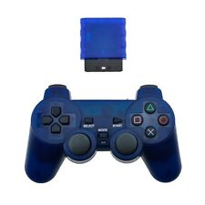 Blue Playstation 2 Generic Wireless Controller for PS2 Console