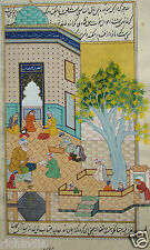 King Royal miniature painting antique vintage Muslim Royal  Online Art Gallery