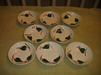 Vintage Blue Ridge Dessert Plates-Set Of 8-USA Made-Southern Potteries-Ivy Look
