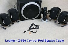 Control Pod Bypass Cable w/ volume control for Logitech Z-560 Computer Speakers