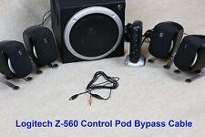 Control Pod Bypass Kabel mit Lautstärkeregelung für Logitech z-560 Computer Lautsprecher