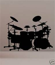 DRUM SET KIT  WALL ART VINYL WALL ART STICKER MUSICAL
