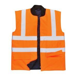 Portwest S469 Hi Vis Reversible Bodywarmer Water Resistant Vest Workwear Gilet