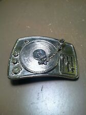 Rock Star Club Dj  Turntable Retro Mixing Deck Belt Buckle to attach to own belt
