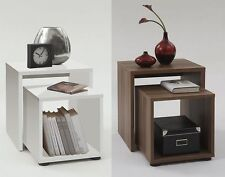 Duo' Designer Bedsides / Nesting Tables. Wood Finish. Choice of Colour.
