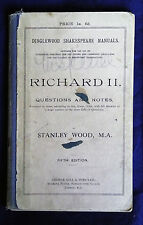 RICHARD II, A Dinglewood Shakespeare Manual by Stanley Wood (George Gill)