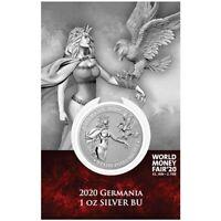 2020 Germania 1oz .9999 Silver Coin - 2020 World Money Fair Special
