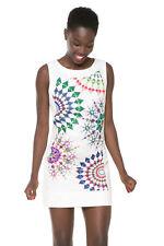 Desigual Multicolour Circle White Black Audrey Shift Dress 36-46 UK 8-18 RRP�84