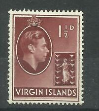 Virgin Islands 1938 Sg 112A, 11/2d Red Brown, Ordinary paper, M/M [883]
