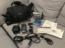 Canon Zr10 minidv Camcorder 200x Zoom ~ Case, Papers, Remote, Blank Tapes, Cords