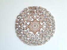 BALINESE art wall plaque wood carved hamptons coastel beach tropical home wear