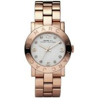 NEW MARC JACOBS MBM3077 LADIES ROSE GOLD AMY WATCH - 2 YEAR WARRANTY
