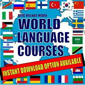 28 Language Courses Easy to Learn System MP3 Audio & Text Files on 4 PC-DVDs NEW