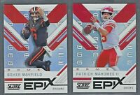2019 Score Football EPIX GAME Insert Complete Your Set YOU PICK!