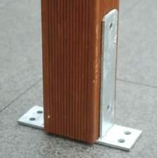 U-Pfostenträger mit Bodenplatte feuerverzinkt für Pfosten 12x12 cm Pfostenschuh