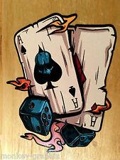 Ases Aces & dice rythm Pegatina Sticker us car tuning Skull Biker v2 v6 v8