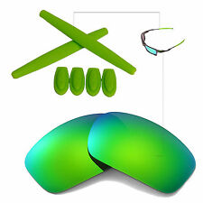 New Walleva Polarized Emerald Lenses And Rubber Kit For Oakley X-Squared