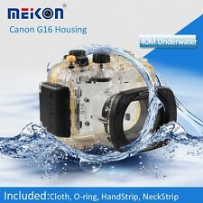 40M 130ft Underwater Waterproof Diving Housing Case for Canon G16 Camera