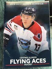 2018-19 CENTRAL ILLINOIS FLYING ACES Hockey pocket Schedule! USHL! NHL