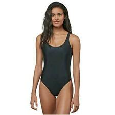 New listing Volcom Women's Junior's Simply Solid One Piece Swimsuit,, Black, Size Small IA7M