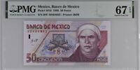 MEXICO 50 PESOS 1999 P 107d SUPERB GEM UNC PMG 67 EPQ