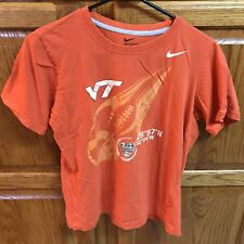 Boys Nike Virginia Tech Hokies Football Sugar Bowl Shirt Orange YL Youth Large