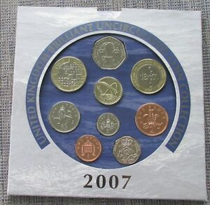 UK 2007 uncirculated 9-coin Year Set  as issued by RM