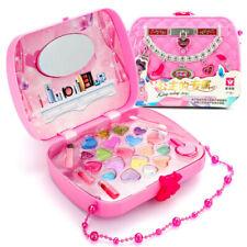 Girls Princess Pretend Makeup Set Cosmetics Kit Bag Kids Beauty Play Toy Gift
