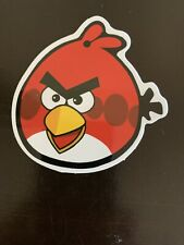 Red angry Bird Sticker- Skaters, Laptop, Luggage, Mug, Decal