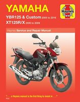 Haynes Yamaha YBR125 XT125 YBR125R X 2005-2016 Manual 4797 NEW
