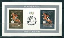 GUYANA 1992 PRUEBA DE LUJO HIPICA ORO Y PLATA HB 2v.  BARCELONA 92 SIN DENTAR