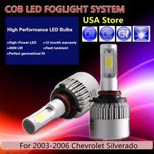 US 2Pcs White PHILIPS COB 16000LM LED Fog Light For 03-06 Chevrolet Silverado