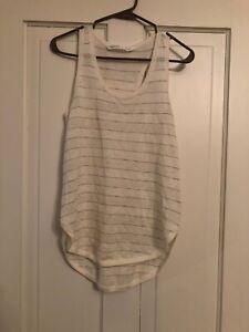 Athleta Women's Mix It Up Sweater Tank Size Small 596468 Off White Linen Blend