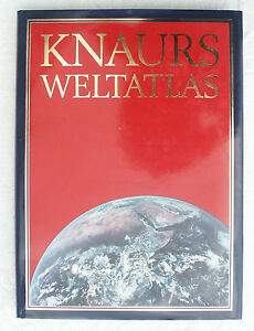 Knaurs Weltatlas  Ausgabe 1989 mit Fotos, Einführungen, Tabellen und Erläuterung