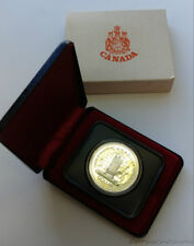 1977 Canada Uncirculated Silver Dollar Coin .500 Silver In Box