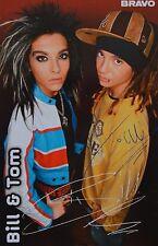 BILL & TOM KAULITZ - Autogrammkarte - Tokio Hotel Autogramm Sammlung Clippings