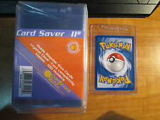 100 Plastic CARD SAVER II Protective Clear Semi-Rigid Storage Hold Pokemon/MTG 2
