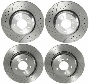 Brembo Front Rear Drill Slotted Brake Disc Rotors Kit For BMW E82 E88 135i 135is