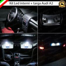 KIT LED INTERNI ABITACOLO AUDI A2 COMPLETO + LUCI TARGA LED 6000K CANBUS
