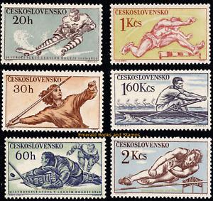 EBS Czechoslovakia 1959 - Sports - ice hockey - Michel 1116-1121 MNH**