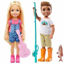 Barbie Camping Fun Chelsea Doll with Fishing Pole Boy Doll