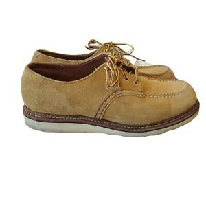 Red Wings 8105 Suede Leather Irish Setter Oxford Boots Beige Men's Shoes US 11.5