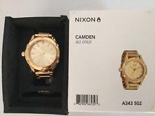 Nixon women's Camden gold EUC