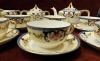 Vintage Noritake 19-Piece Tea Set Teapot Sugar Creamer 6 Cups & Saucers