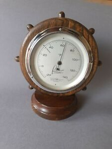 Vintage Rototherm wooden desk top thermometer