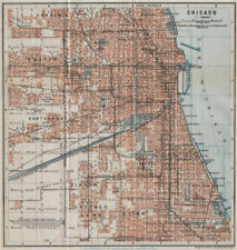 CHICAGO town city plan. Illinois. Lawn Elsdon Austin Lynn Clyde Cragin 1909 map