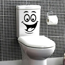 Funny Smile Face Toilet Stickers Personalized Furniture Decoration Wall Decals