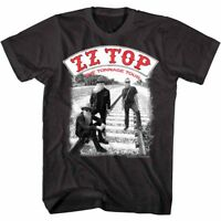 ZZ Top Tonnage Tour Men's T Shirt Baddest Men Rock Band Album Music Merch Black