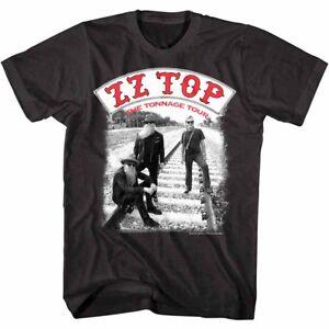 ZZ Top Tonnage Tour Men's T Shirt Baddest Men Rock Band Album Music Merch Black