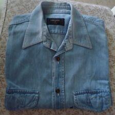 VALENTINO Jeans camicia uomo maniche lunghe